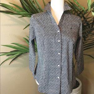 NAUTICA 3/4 Sleeve Button Down Shirt -100% Cotton